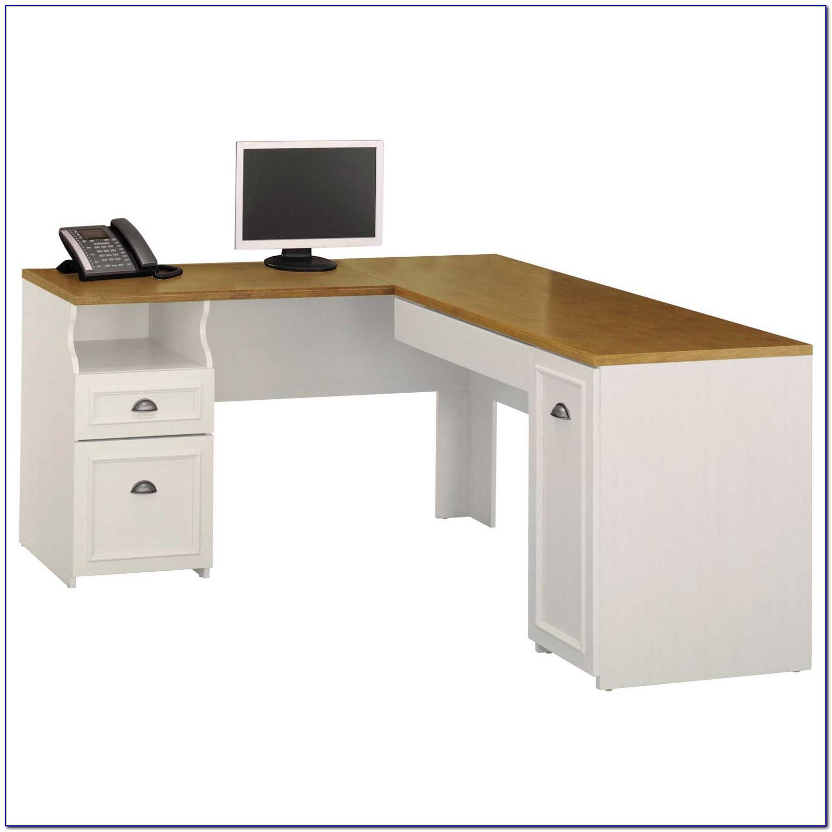 Arctic Home Office Corner Computer Desk In White