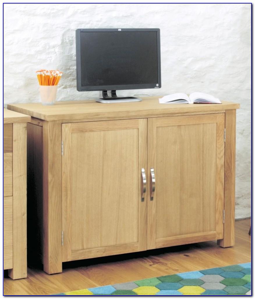 Aston Oak Hideaway Computer Desk