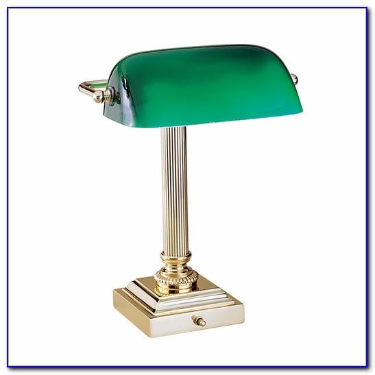 Bankers Green Desk Lamp
