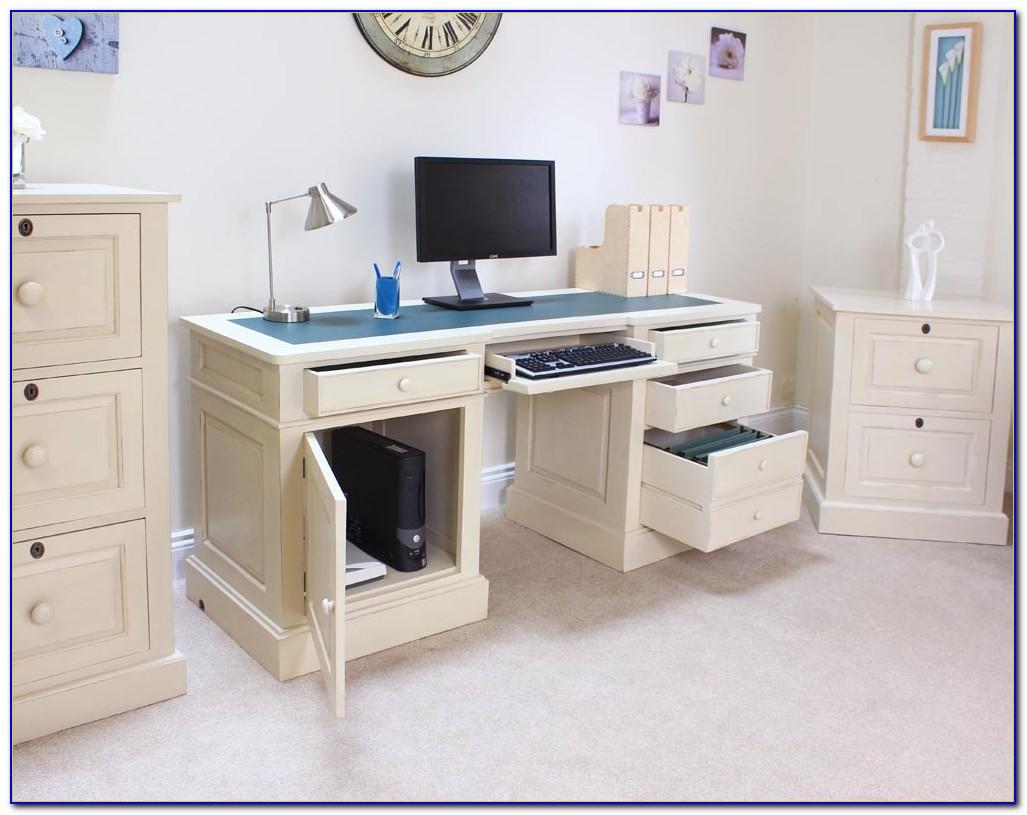 Baumhaus Hampton Twin Pedestal Computer Desk