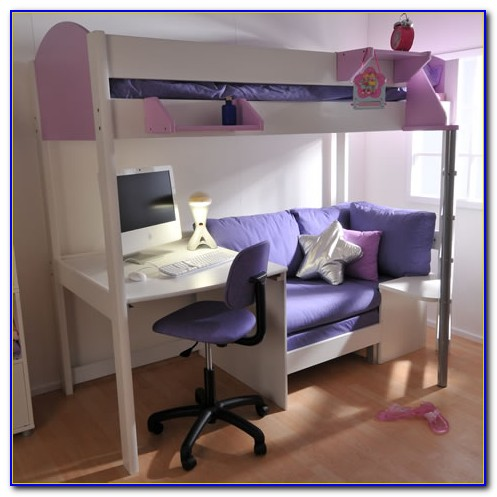 Bed With Desk And Futon