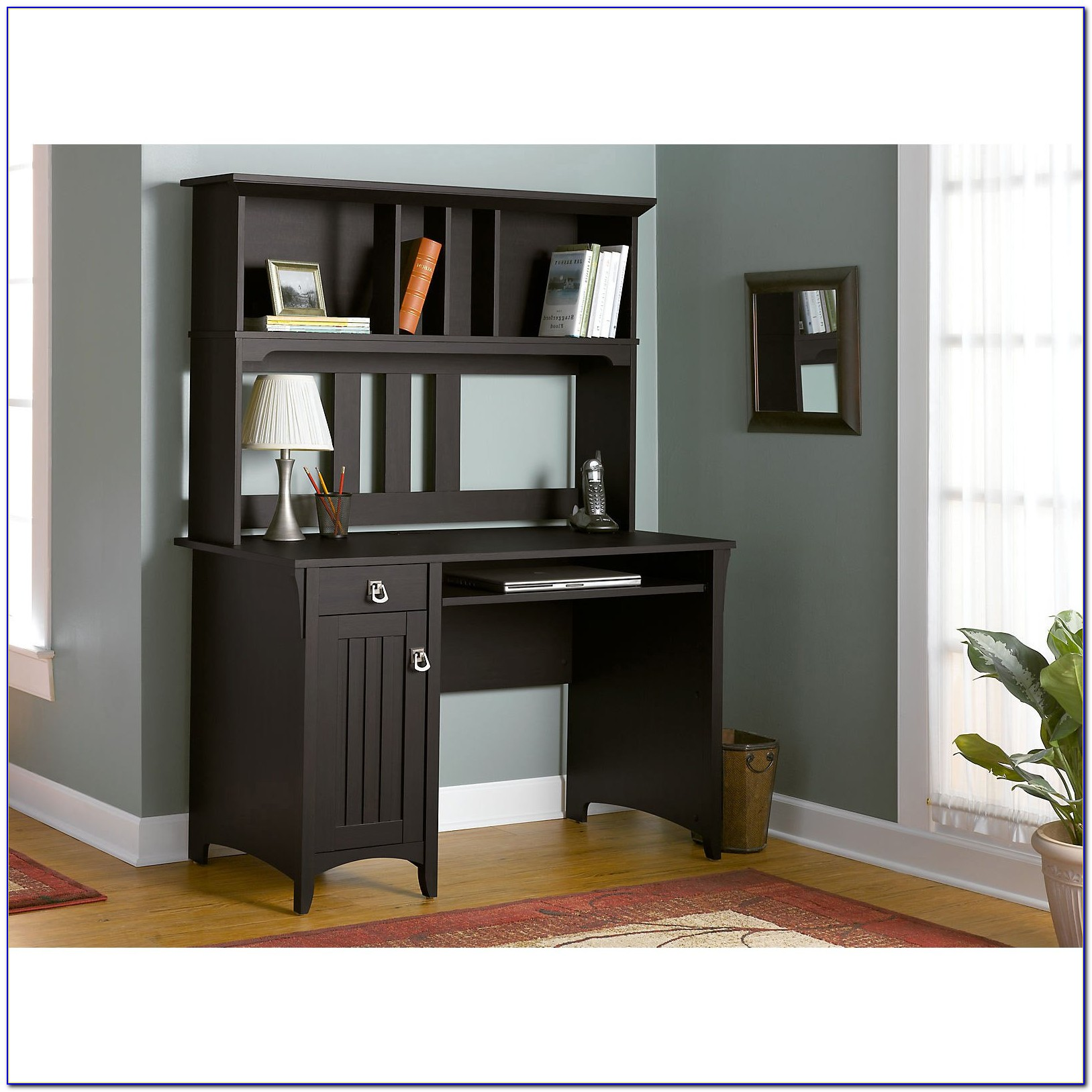 Better Homes And Gardens Computer Workstation Desk And Hutch Black