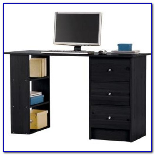 Black Ash Corner Computer Desk