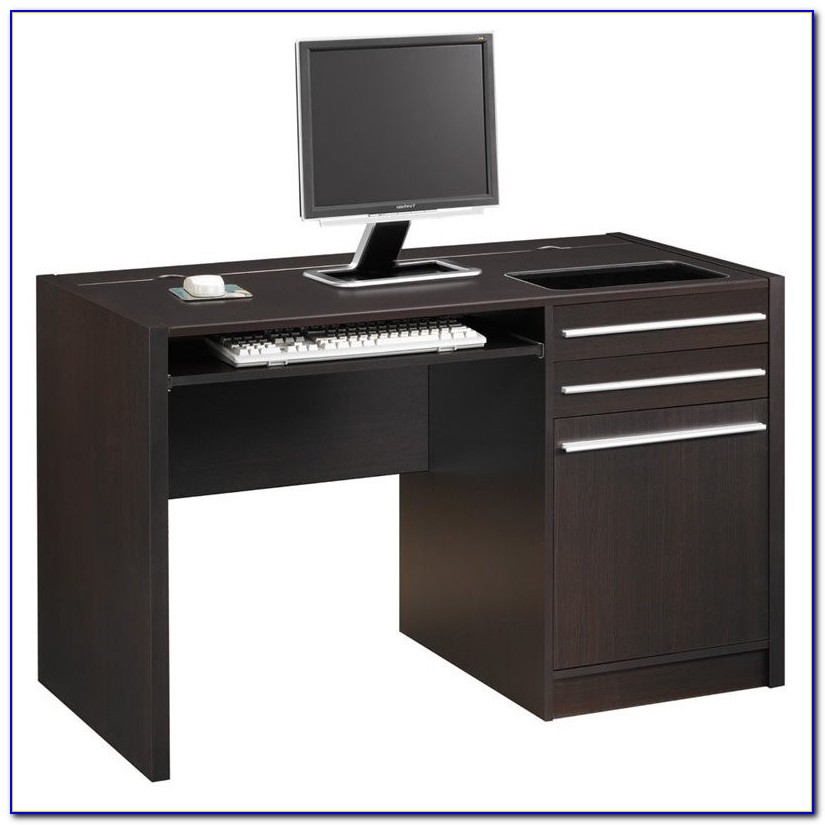 Bridgeport Single Pedestal Computer Desk With Storage Hutch