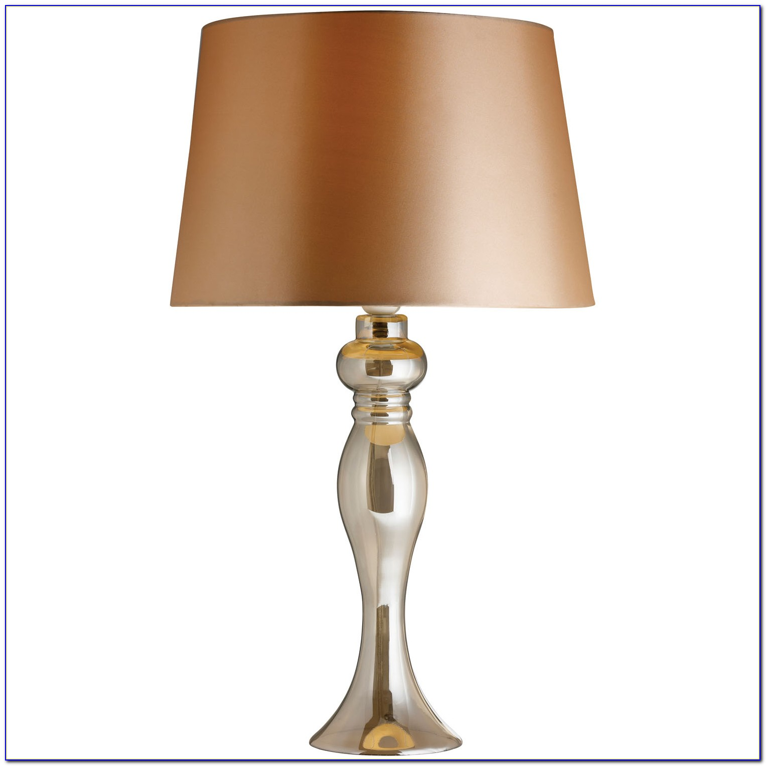 Bronze Table Lamp Glass Shade