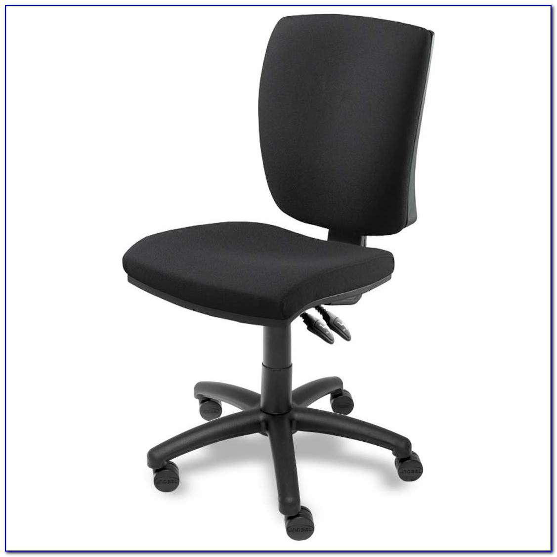 Brown Leather Office Chair Armless