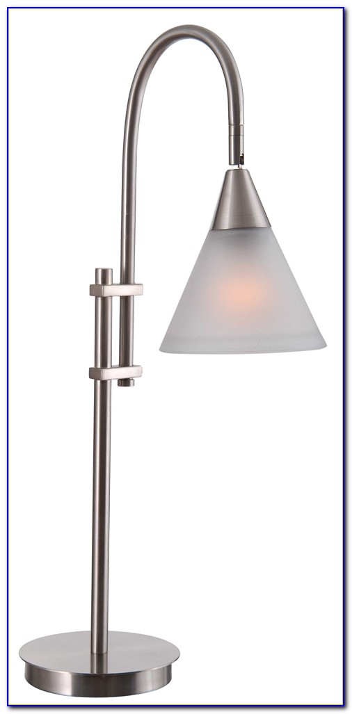 Brushed Stainless Steel Desk Lamps