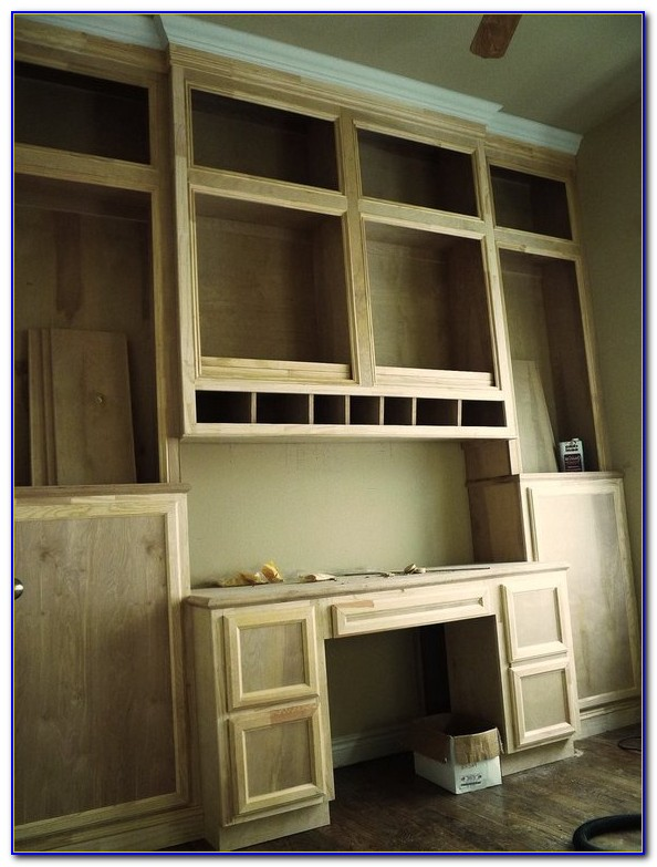 Built In Cabinets And Desk