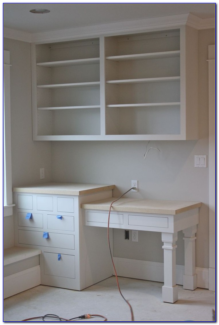 Built In Shelving And Desk