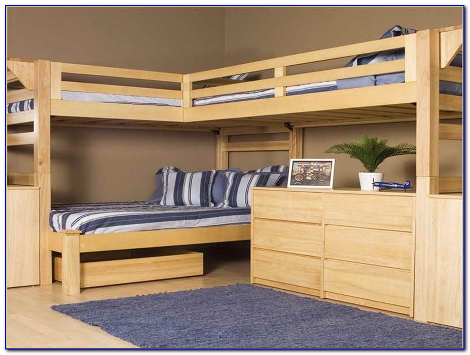 Bunk Bed With Desk And Futon Underneath