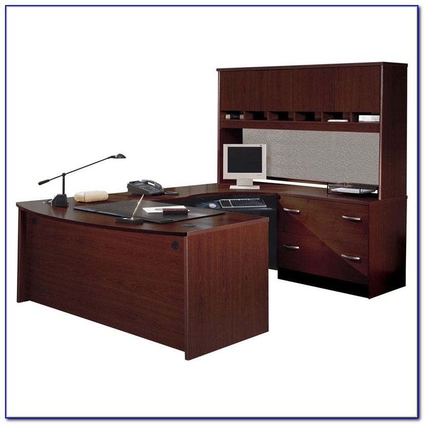 Bush Cor053 U Shaped Desk With Hutch