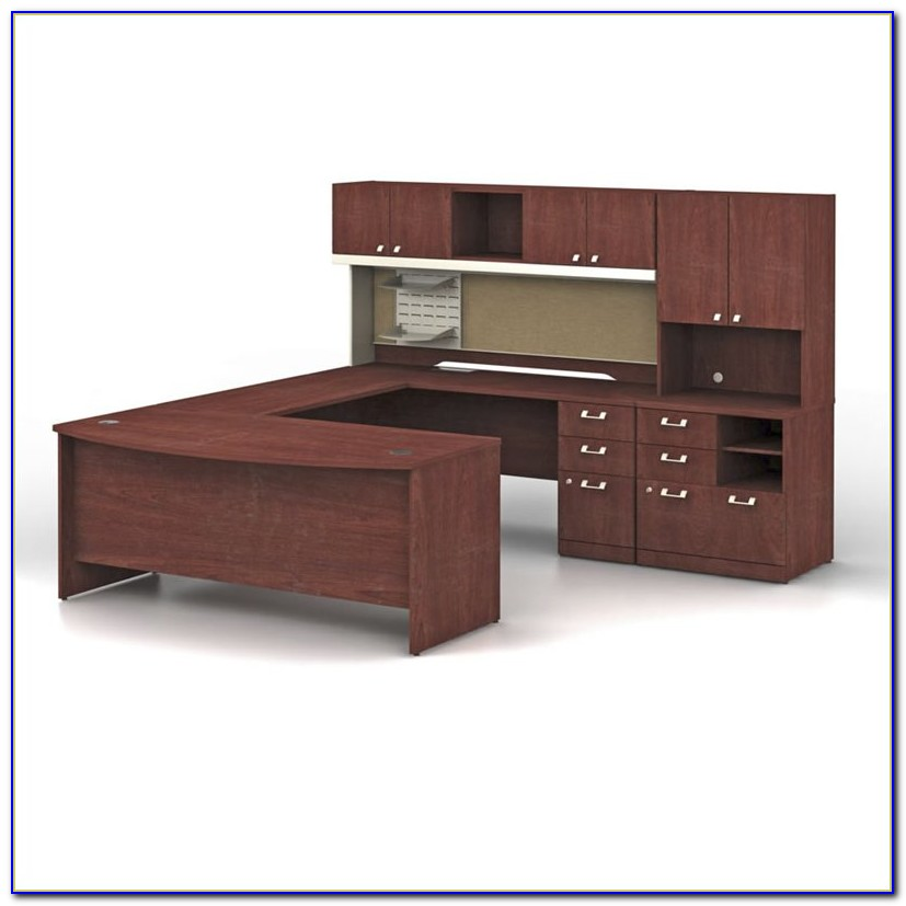 Bush U Shaped Desk With Hutch