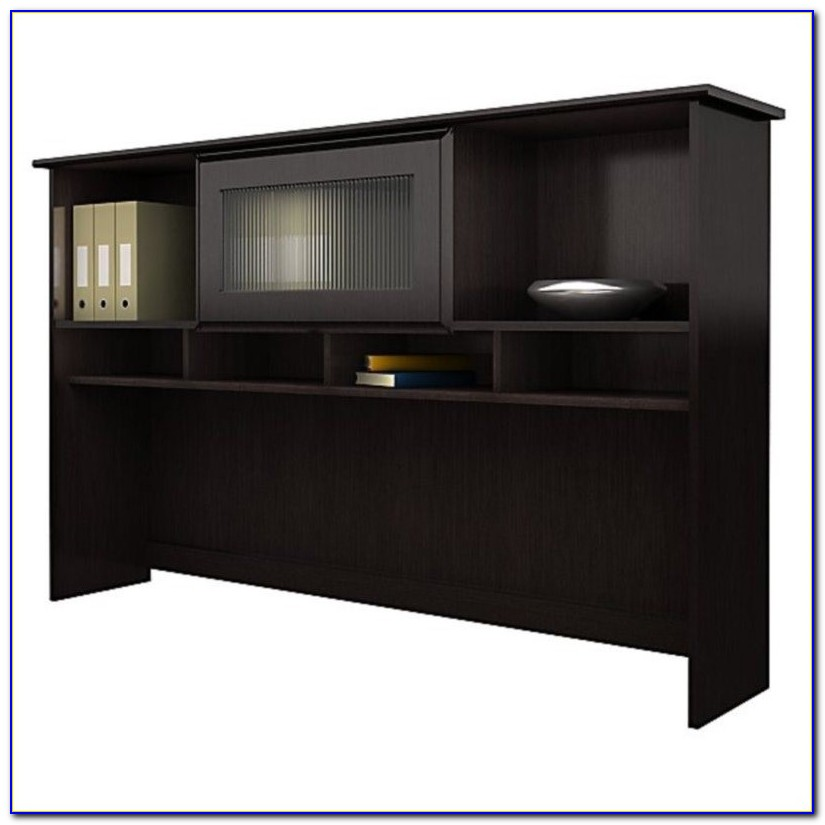 Cabot Corner Computer Desk With Hutch In Espresso Oak