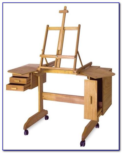 Children's Art Desk And Easel
