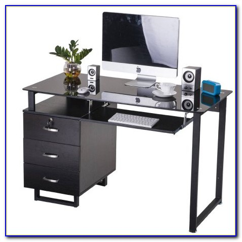 Computer Desk With Large Keyboard Tray