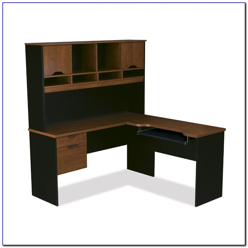 Computer L Shaped Desk With Hutch