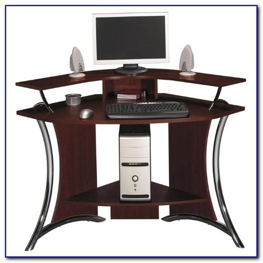 Corner Computer Desk Cherry Wood