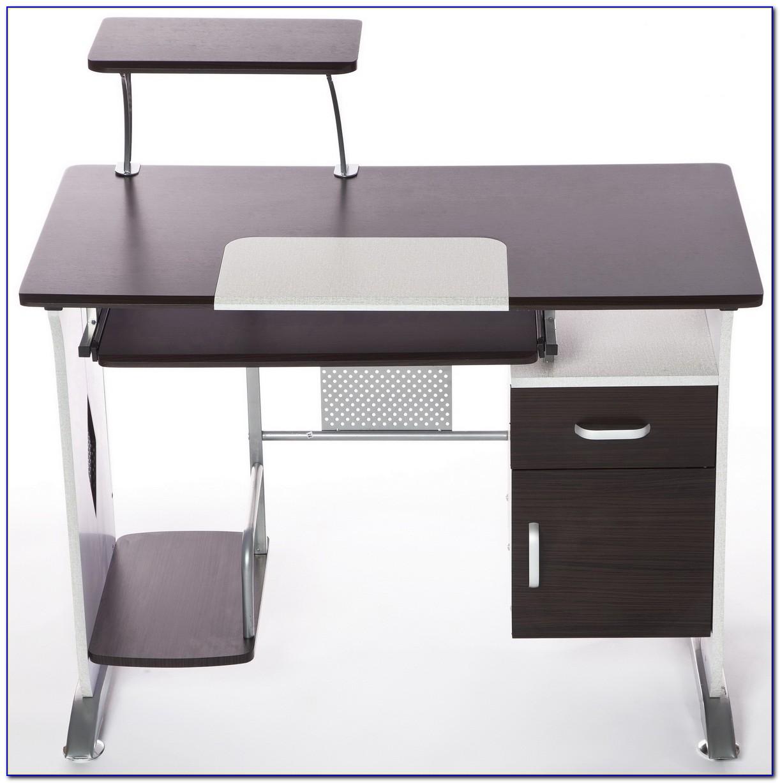 Corner Desk With Keyboard Shelf
