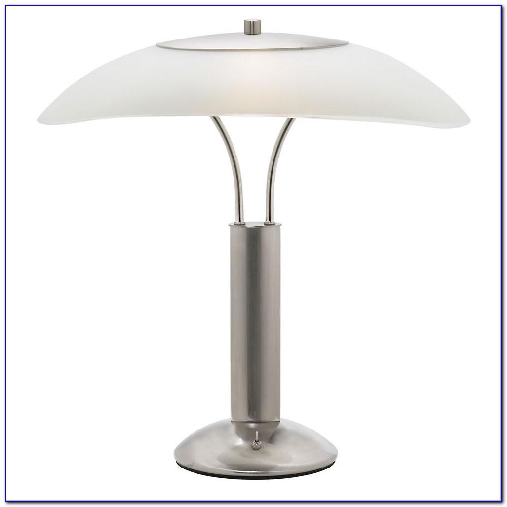 Desk Lamp Green Glass Shade