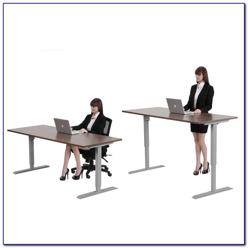 Desk With Crank Height Adjustable