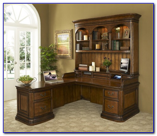 Desk With Return And Hutch