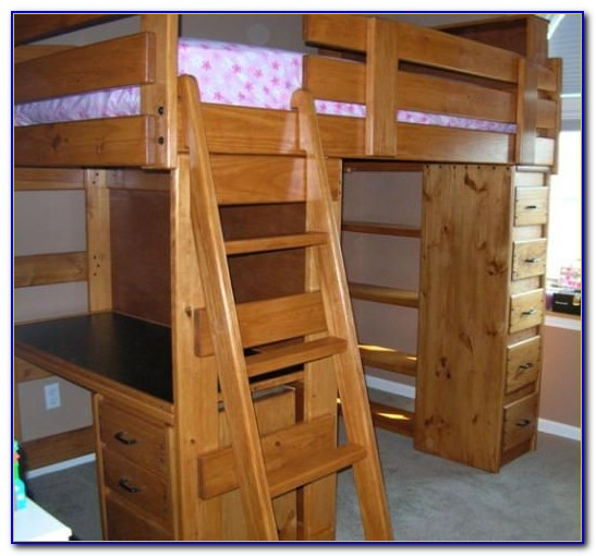Double Bunk Bed With Desk Canada