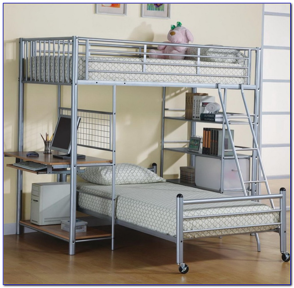 Double Bunk Bed With Desk Uk