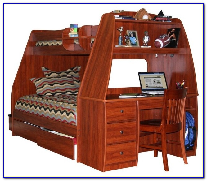 Double Bunk Bed With Desk Under
