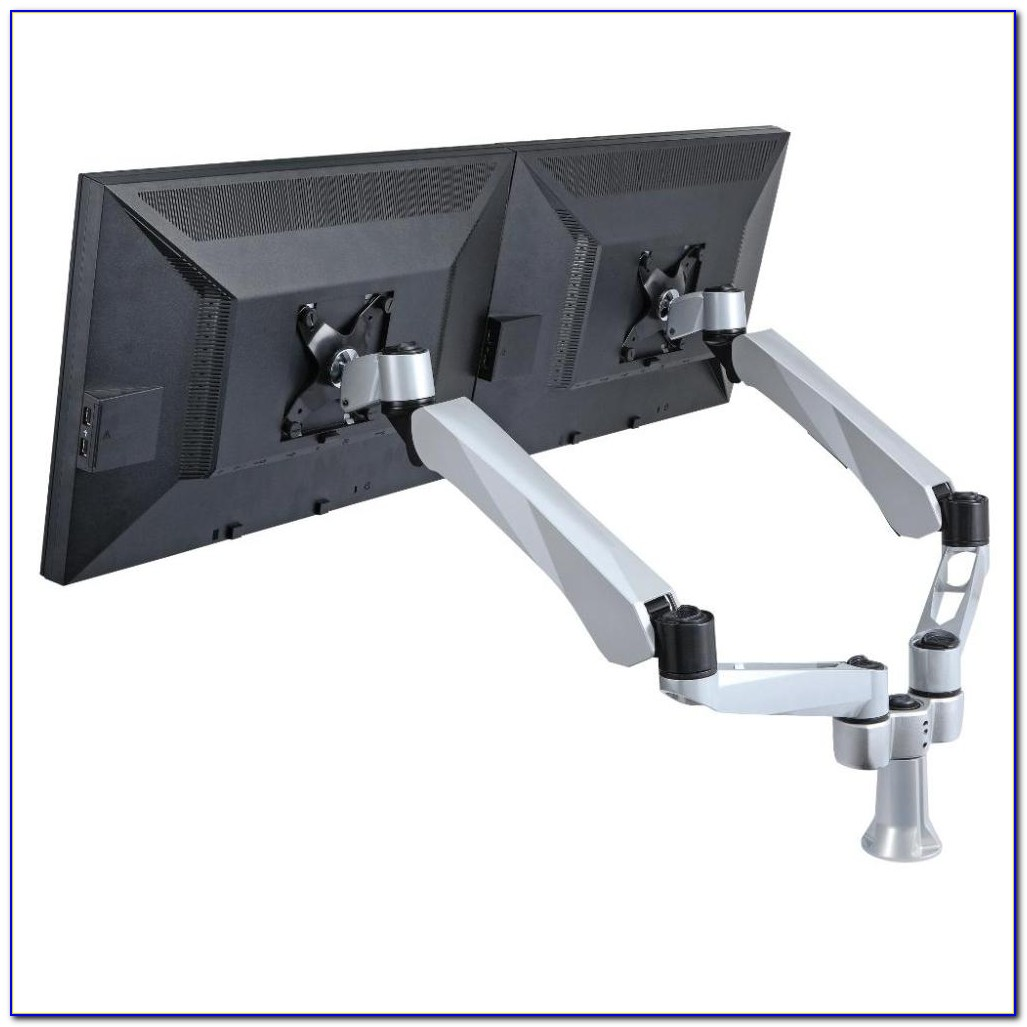Dual Arm Computer Monitor Desk Mount