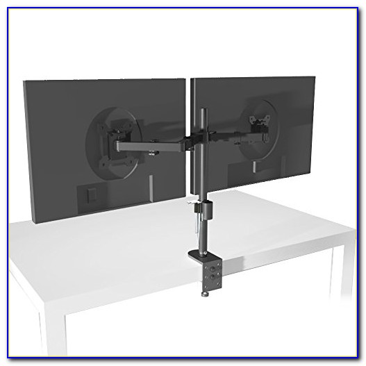 Dual Lcd Monitor Stand Desk Clamp
