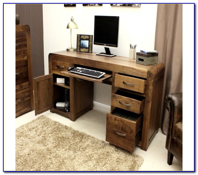 Hampton Twin Pedestal Hidden Computer Desk