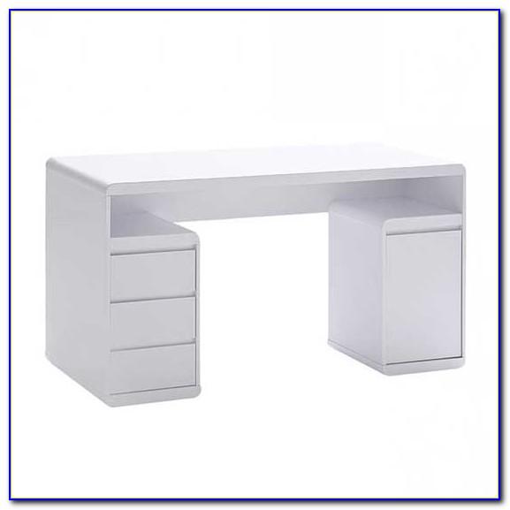 High Gloss Office Desk White