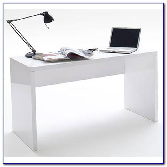 High Gloss White Computer Desk