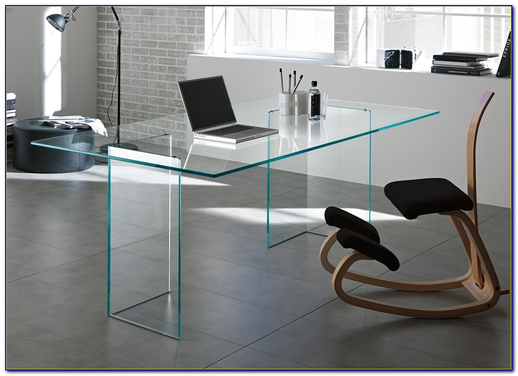 Home Office Glass Desk Furniture
