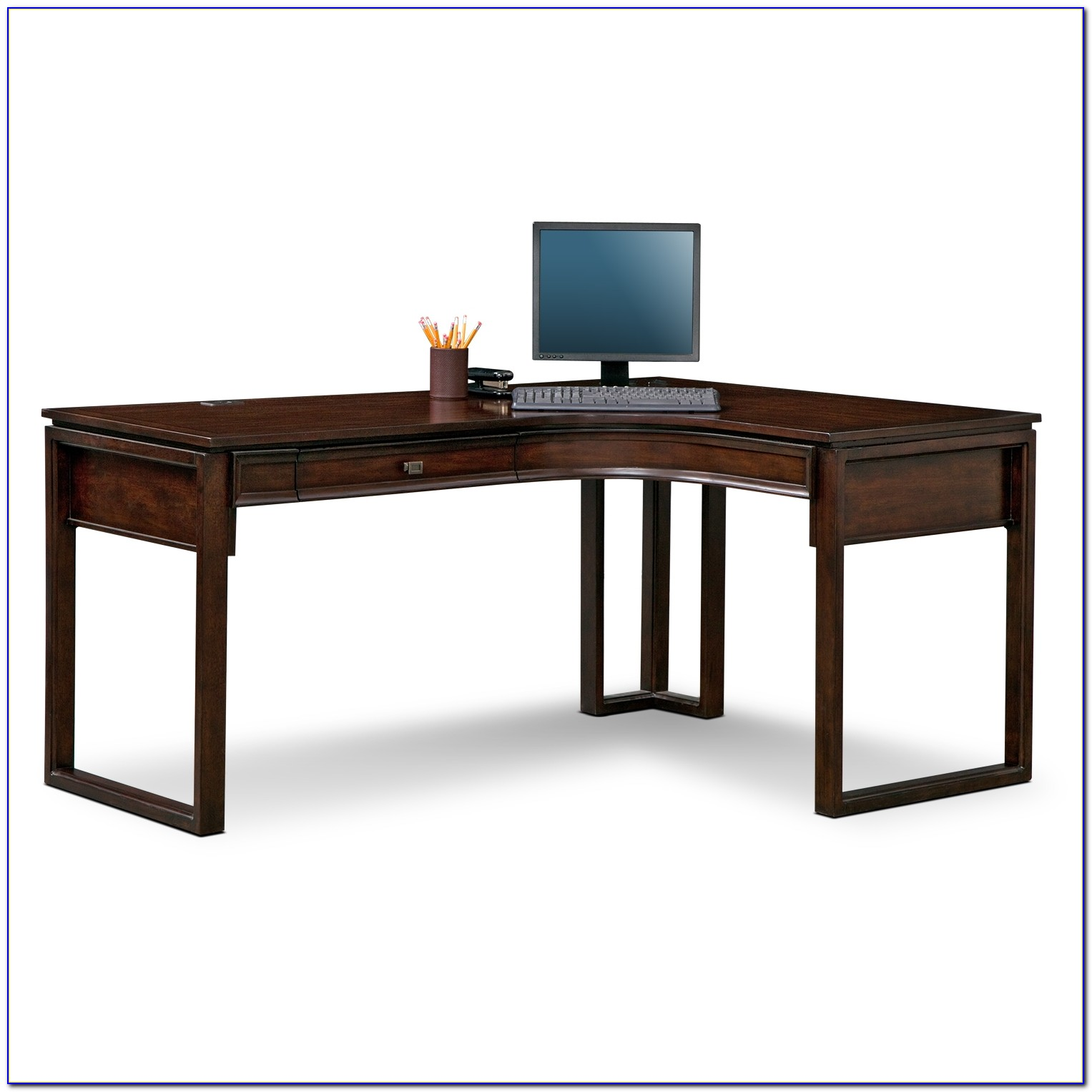 Home Office L Shaped Desks With Hutch