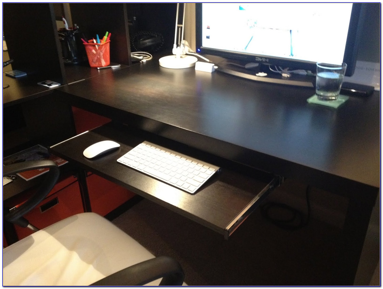 Ikea Computer Desk With Keyboard Tray