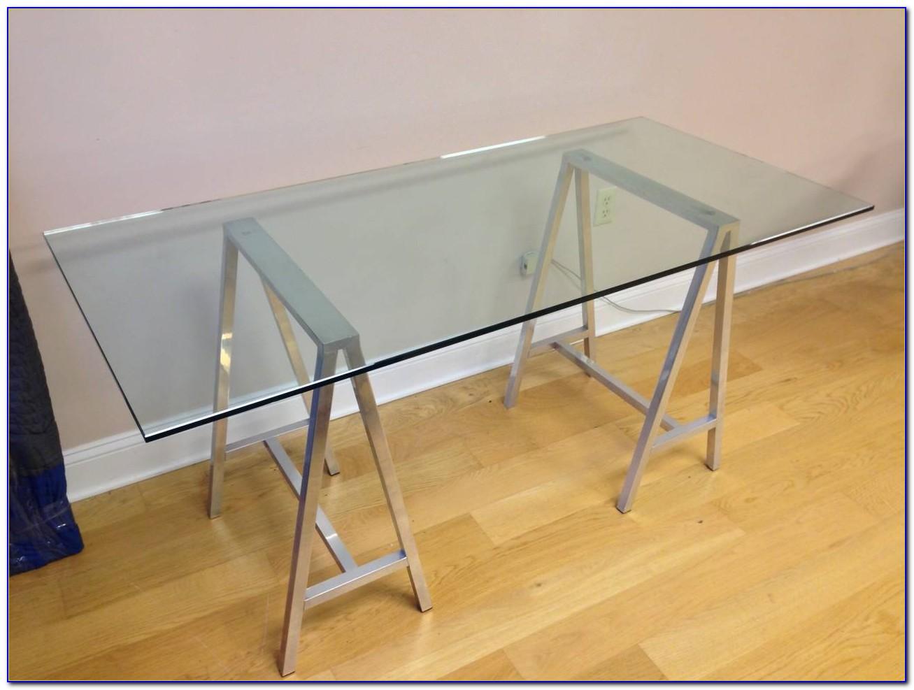 Ikea Glass Top Sawhorse Desk