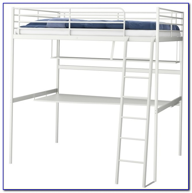 Ikea High Bed And Desk