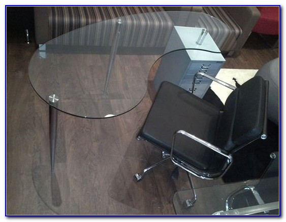 Kidney Shaped Glass Desk