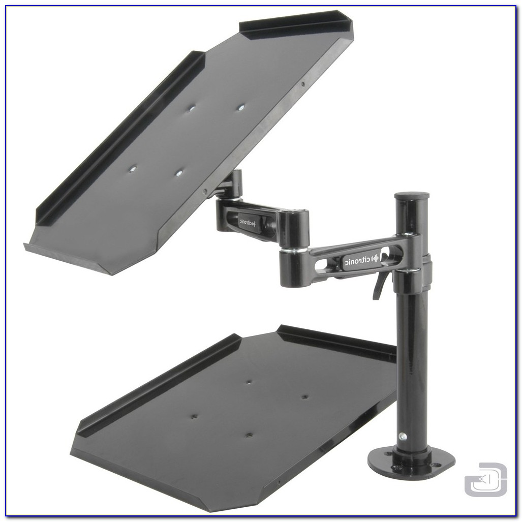 Laptop Notebook And Monitor Desk Mount Stand