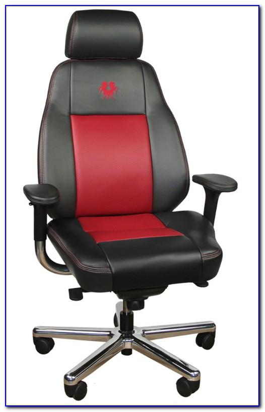 Leather Ergonomic Office Desk Computer Chair