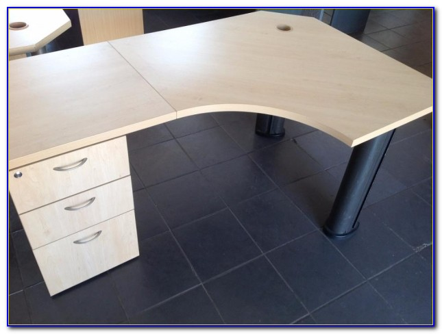 Maple Computer Desk With Drawers