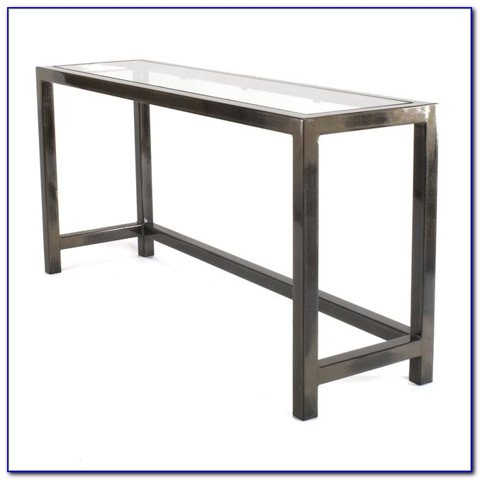 Metal And Glass Desk Table