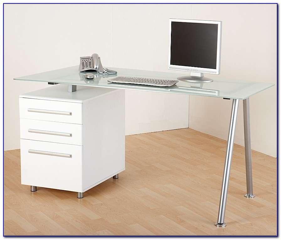 Metal And Glass Home Office Desks