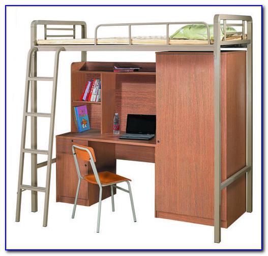 Metal Bunk Bed Desk Combo