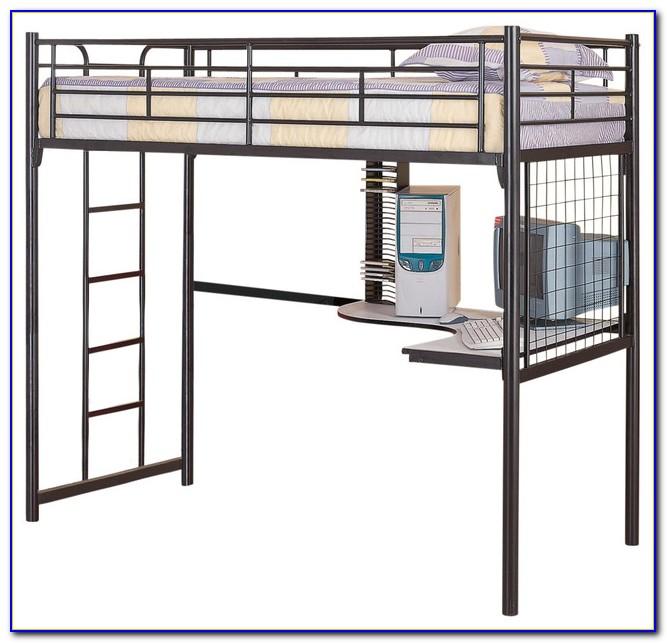 Metal Loft Bunk Bed With Desk