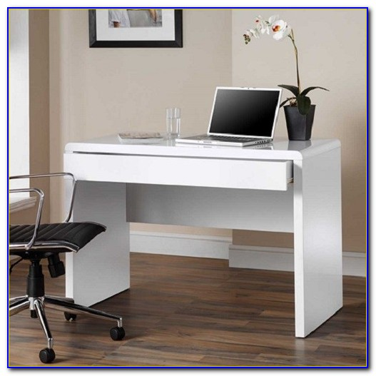 Michl High Gloss Finish Rotating Computer Desk In White