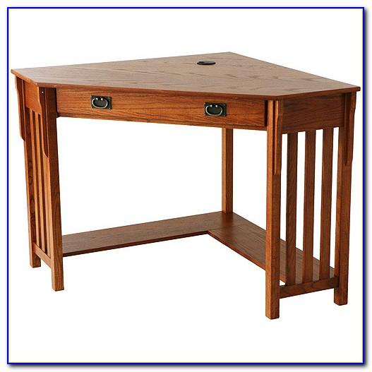 Mission Oak Corner Desk