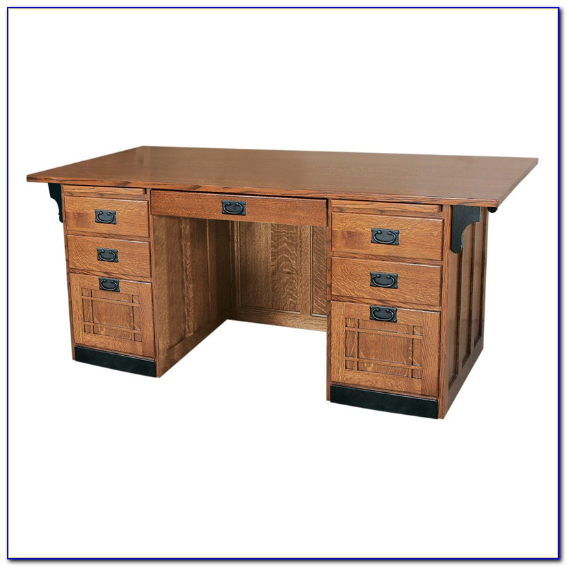 Mission Style Executive Desk