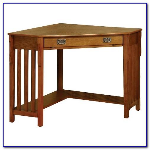 Mission Style Oak Corner Desk